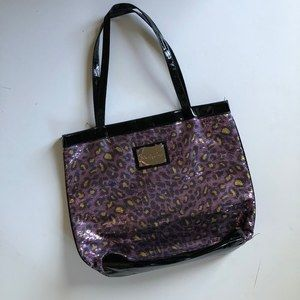 BETSEY JOHNSON Sequin Leopard Tote